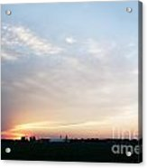 Sunset Over Chester Acrylic Print