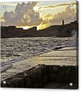 Sunset Over Dubrovnik 2 Acrylic Print