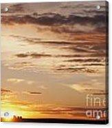 Sunset Over Grain Bins Acrylic Print