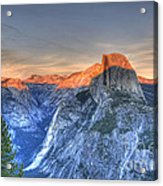 Sunset Over Half Dome Acrylic Print