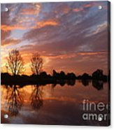 Sunset Over Lake At Finley Acrylic Print