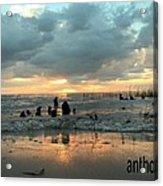Sunset Over Lake Pontchartrain Acrylic Print