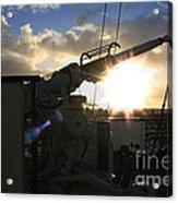Sunset Over Long Beach Acrylic Print