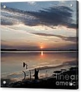 Sunset Over Lovewell Lake Acrylic Print