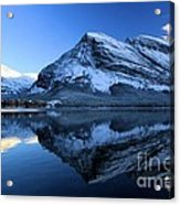 Sunset Over Many Glacier Lodge Acrylic Print
