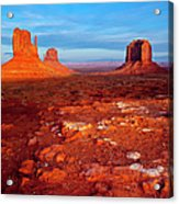 Sunset Over Monument Valley Acrylic Print