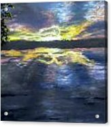 Sunset Over Mystic Lakes Acrylic Print