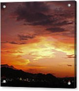 Sunset Over Pigeon Forge Acrylic Print