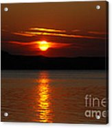 Sunset Over Silver Lake Sand Dunes Acrylic Print