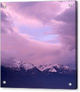 Sunset Over Snow-capped Mountains Acrylic Print