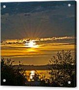 Sunset Over Steilacoom Bay Acrylic Print
