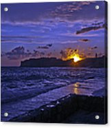 Sunset Over The Adriatic Acrylic Print
