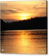 Sunset Over The Connecticut River Acrylic Print