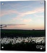 Sunset Over The Fields Acrylic Print
