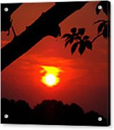 Sunset Over The Golf Course Acrylic Print