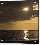 Sunset Over The Gulf - Peeking Through The Clouds Acrylic Print