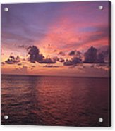 Sunset Over The Gulf Of Mexico Acrylic Print