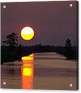 Sunset Over The Lagoon Acrylic Print