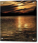 Sunset Over The Lake - 3rd Place Win Acrylic Print