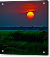Sunset Over The Marsh Acrylic Print