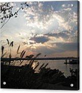 Sunset Over The Potomac Acrylic Print