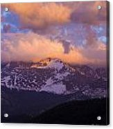 Sunset Over The Rockies Acrylic Print by Charles Warren