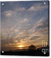 Sunset Over The San Fernando Valley Acrylic Print