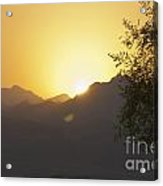 Sunset Over The Sinai Desert  Acrylic Print