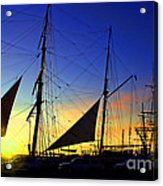 Sunset Over The Star Of India Acrylic Print