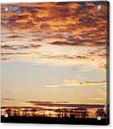 Sunset Over The Tree Line Acrylic Print
