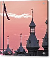 Sunset Over The University Of Tampa Acrylic Print
