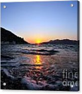 Sunset Over The Waves Acrylic Print