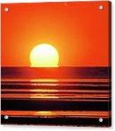 Sunset Over Tidal Flats Acrylic Print