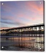 Sunset Pier San Simeon California 1 Acrylic Print