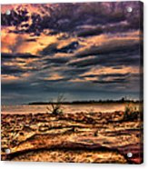 Sunset Rocks Acrylic Print