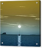 Sunset Sails Acrylic Print