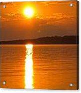 sunset Samsoe island Denmark Acrylic Print