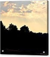 Sunset Silhouettes Over Star Lake Acrylic Print