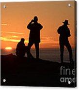 Sunset Silouettes Acrylic Print