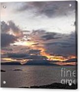 Sunset Storm Clouds Inner Hebrides Acrylic Print