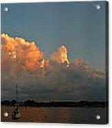 Sunset Storm Clouds Panorama Acrylic Print