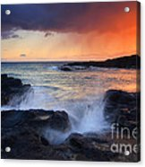 Sunset Storm Passing Acrylic Print by Mike  Dawson