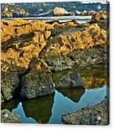Sunset Tidepool Larry Darnell Point Lobos Central California Landscape Acrylic Print