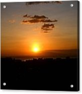 Sunset Upon The Ocean Number Three Acrylic Print