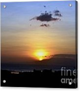 Sunset Upon The Ocean Number Two Acrylic Print