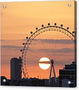 Sunset Viewed Through The London Eye Acrylic Print