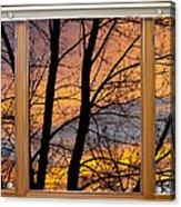 Sunset Window View Acrylic Print