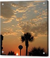 Sunset with Palms Acrylic Print