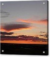 sunsets in North Dakota Acrylic Print