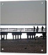 Sunsets On Coney Island Pier Acrylic Print